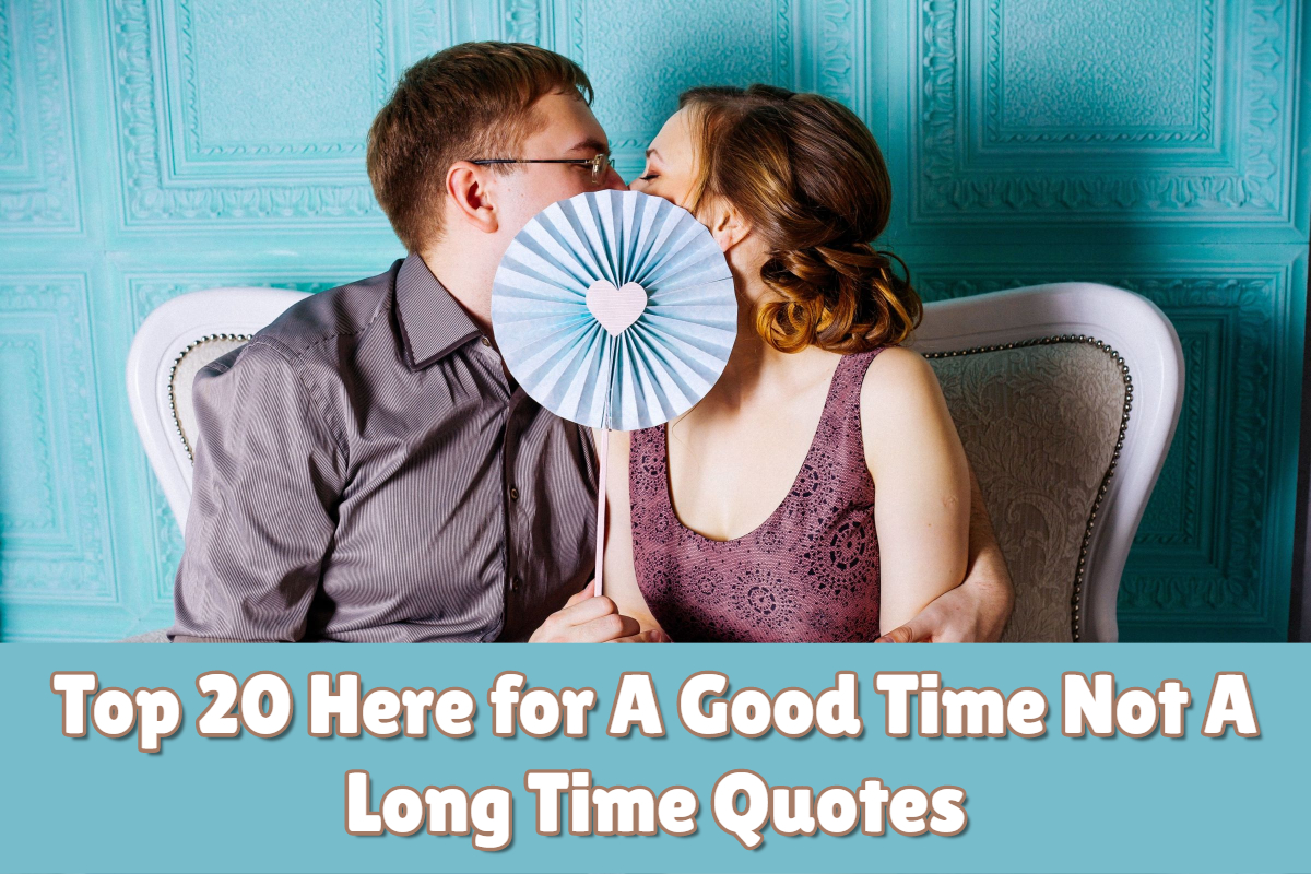 Top 20 Here for A Good Time Not a Long Time Quotes